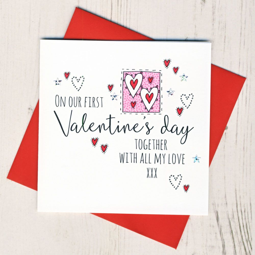 <!-- 017 -->First Valentines Day Together Card