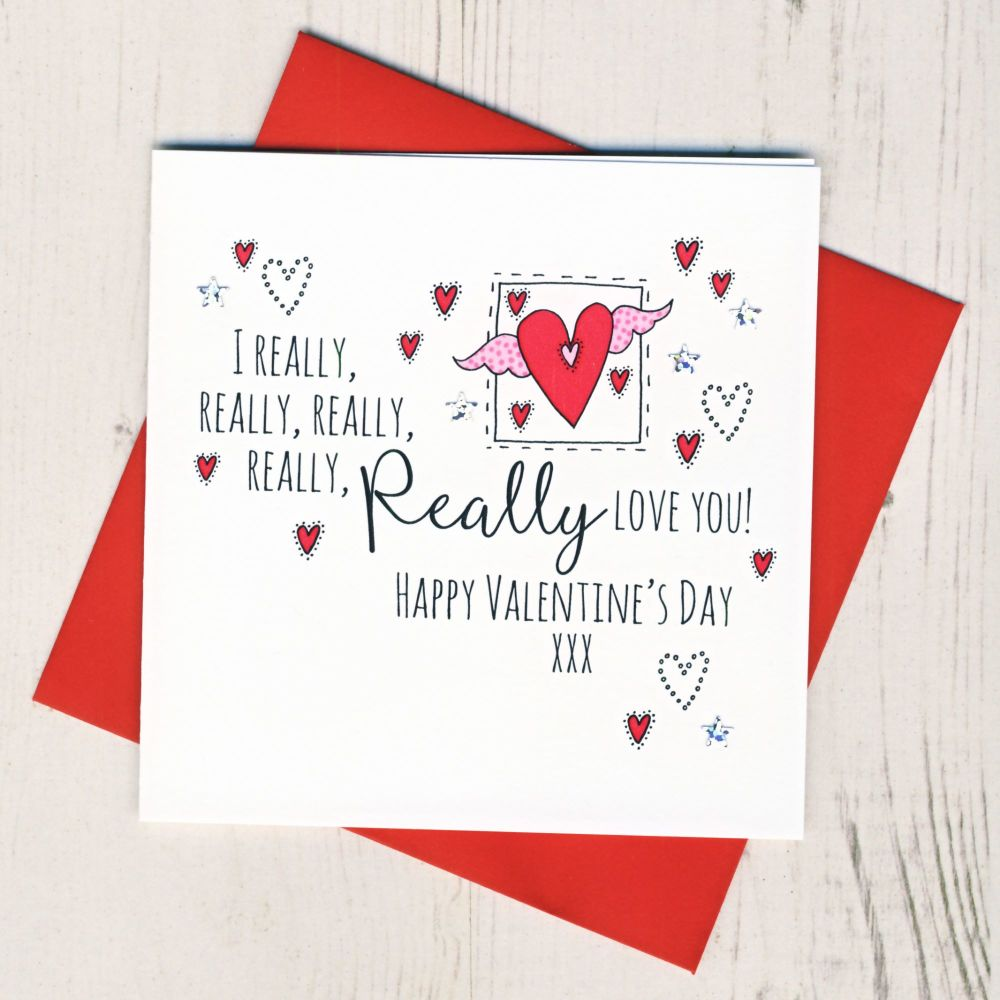 <!-- 017 -->I Really Love You Valentines Card