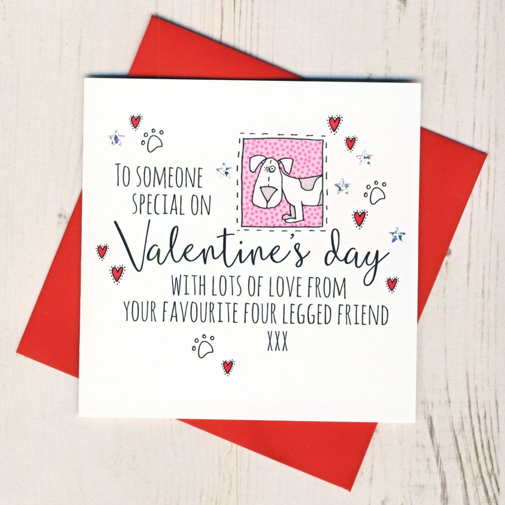 <!-- 024 -->From The Dog or Dogs Valentines Card