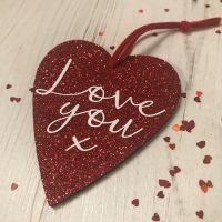 Love You Glittery Heart