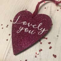 Lovely You Glittery Heart