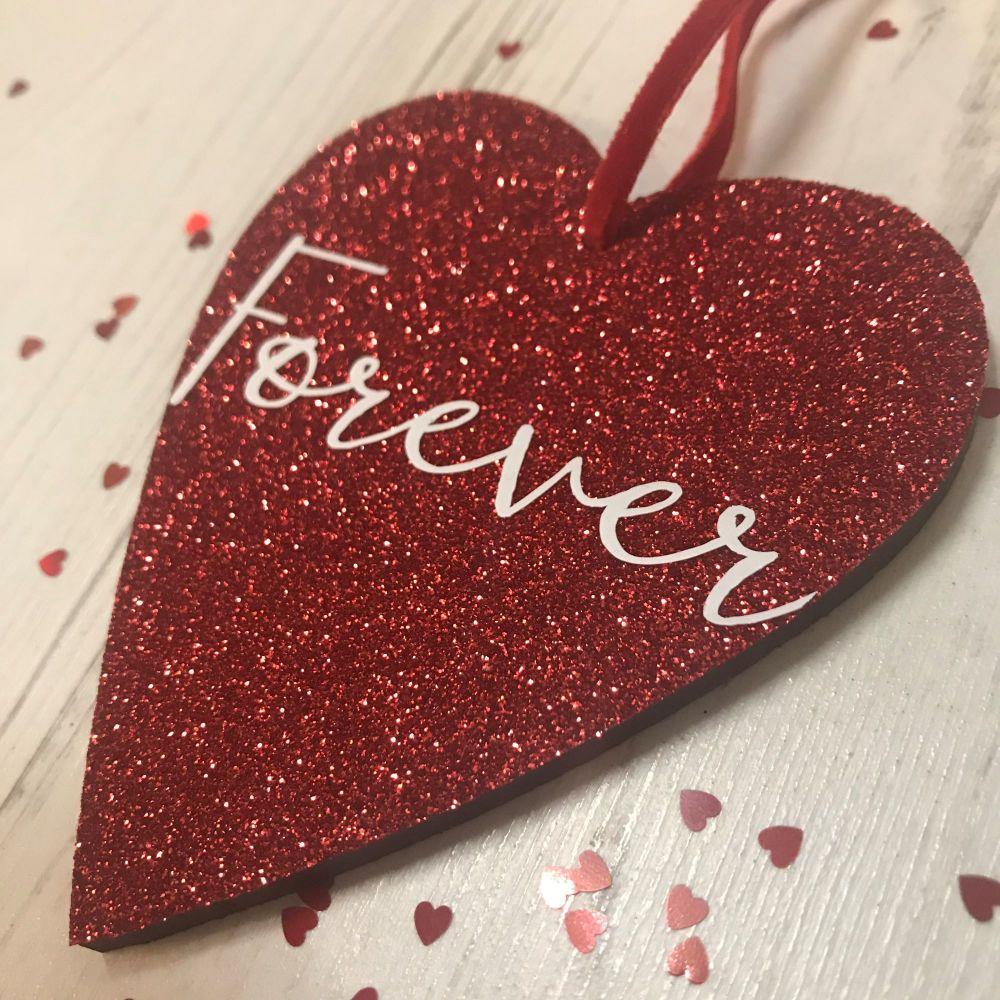 Forever Glittery Heart
