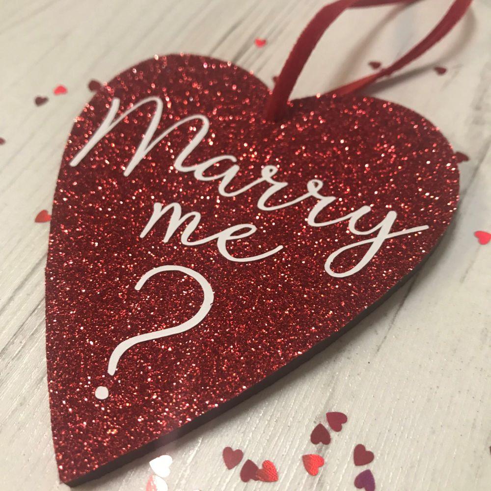 Marry Me? Glittery Heart