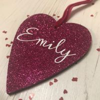 Personalised Name Glittery Heart