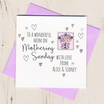 Personalised Mothering Sunday Card