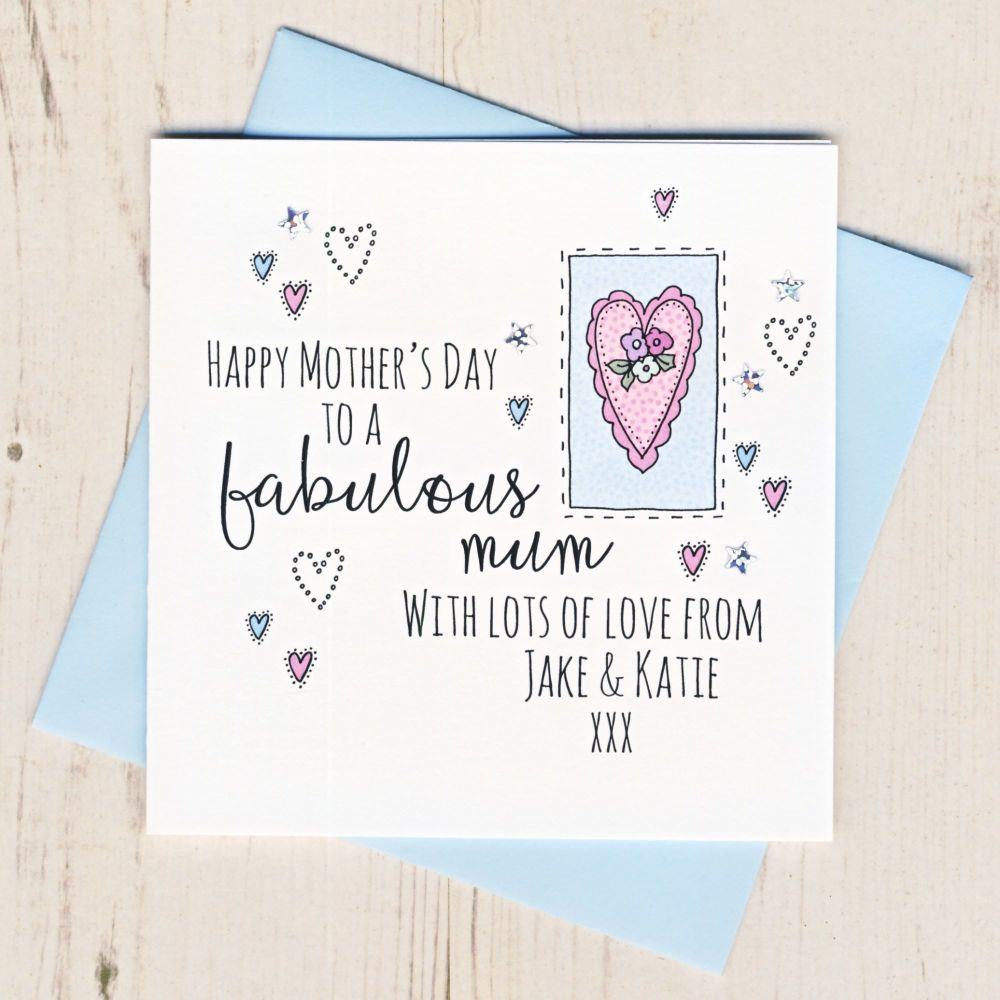 <!-- 001 -->Personalised Mother's Day Heart Card
