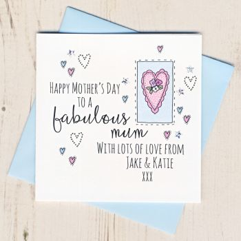 Personalised Mother's Day Heart Card