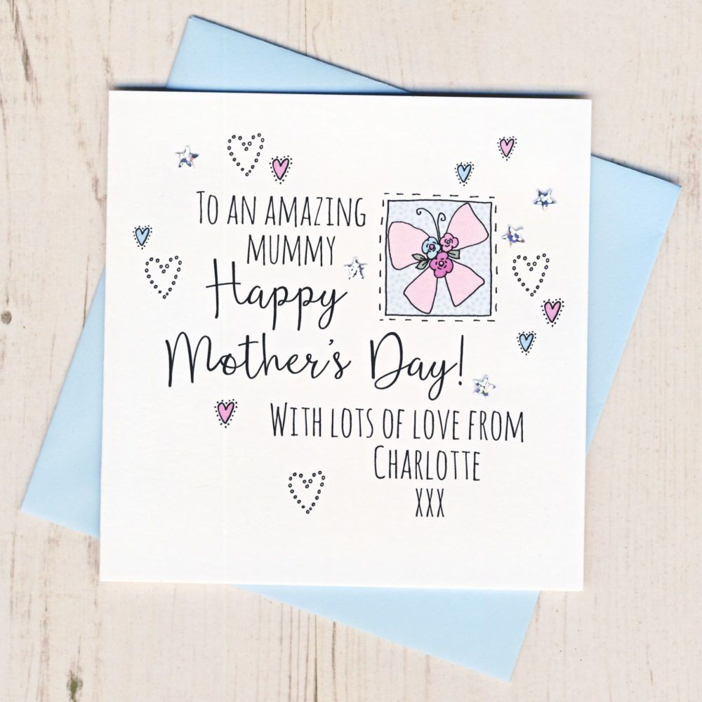<!-- 001 -->Personalised Mother's Day Butterfly Card