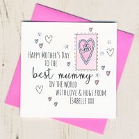 <!-- 010 -->Personalised Mother's Day Mummy Heart Card