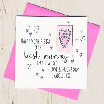 Personalised Mother's Day Mummy Heart Card