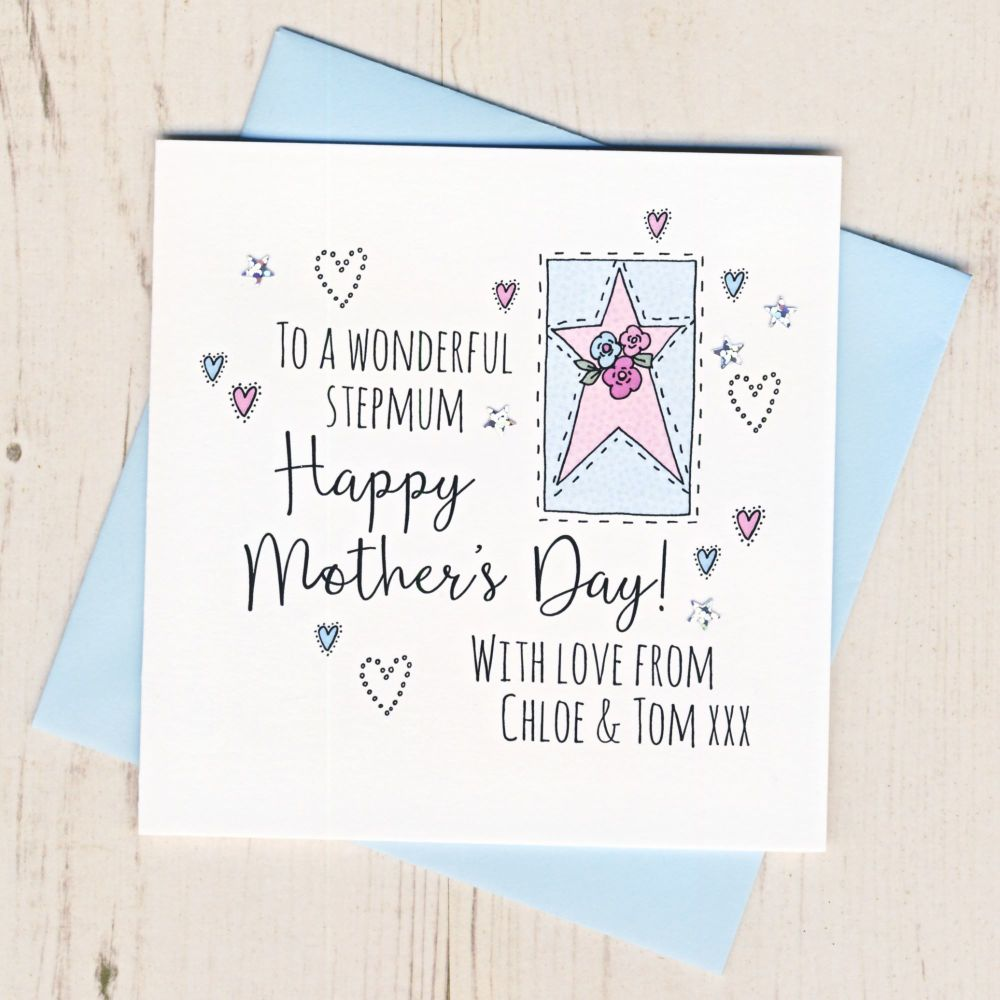 <!-- 001 -->Personalised Stepmum Mother's Day Card