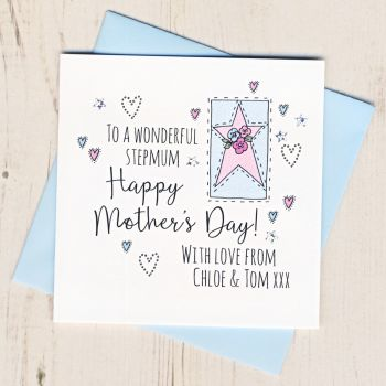 Personalised Stepmum Mother's Day Card