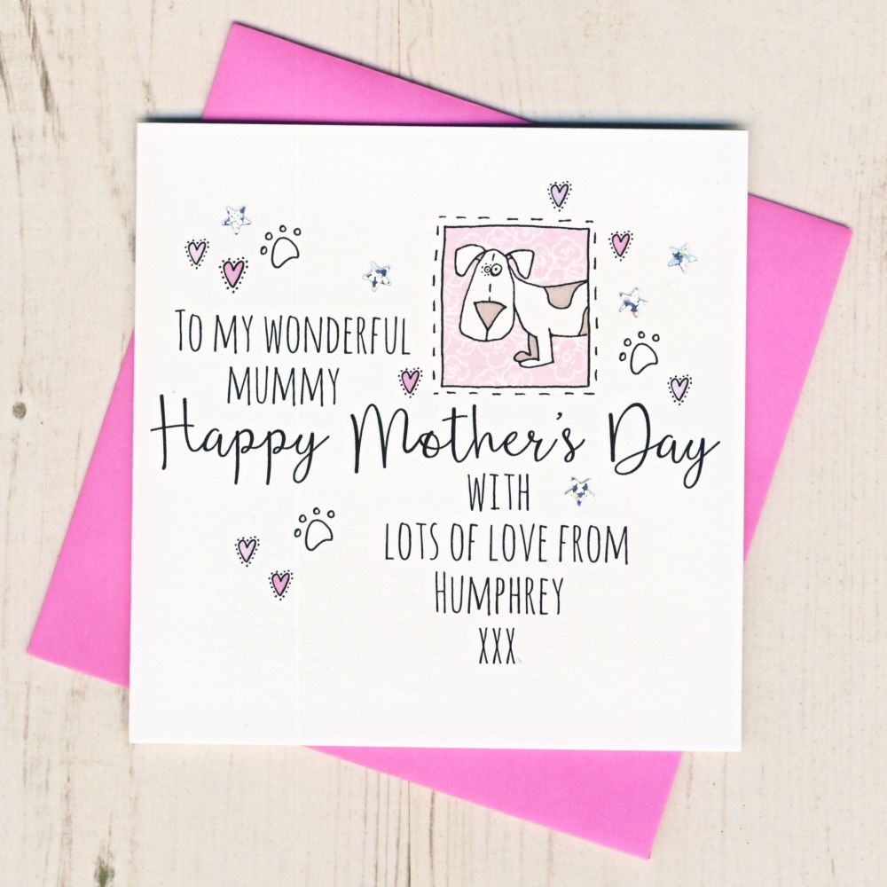 <!-- 002 -->Personalised Mother's Day Card From The Dog