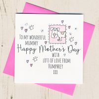 <!-- 014 -->Personalised Mother's Day Card From The Dog