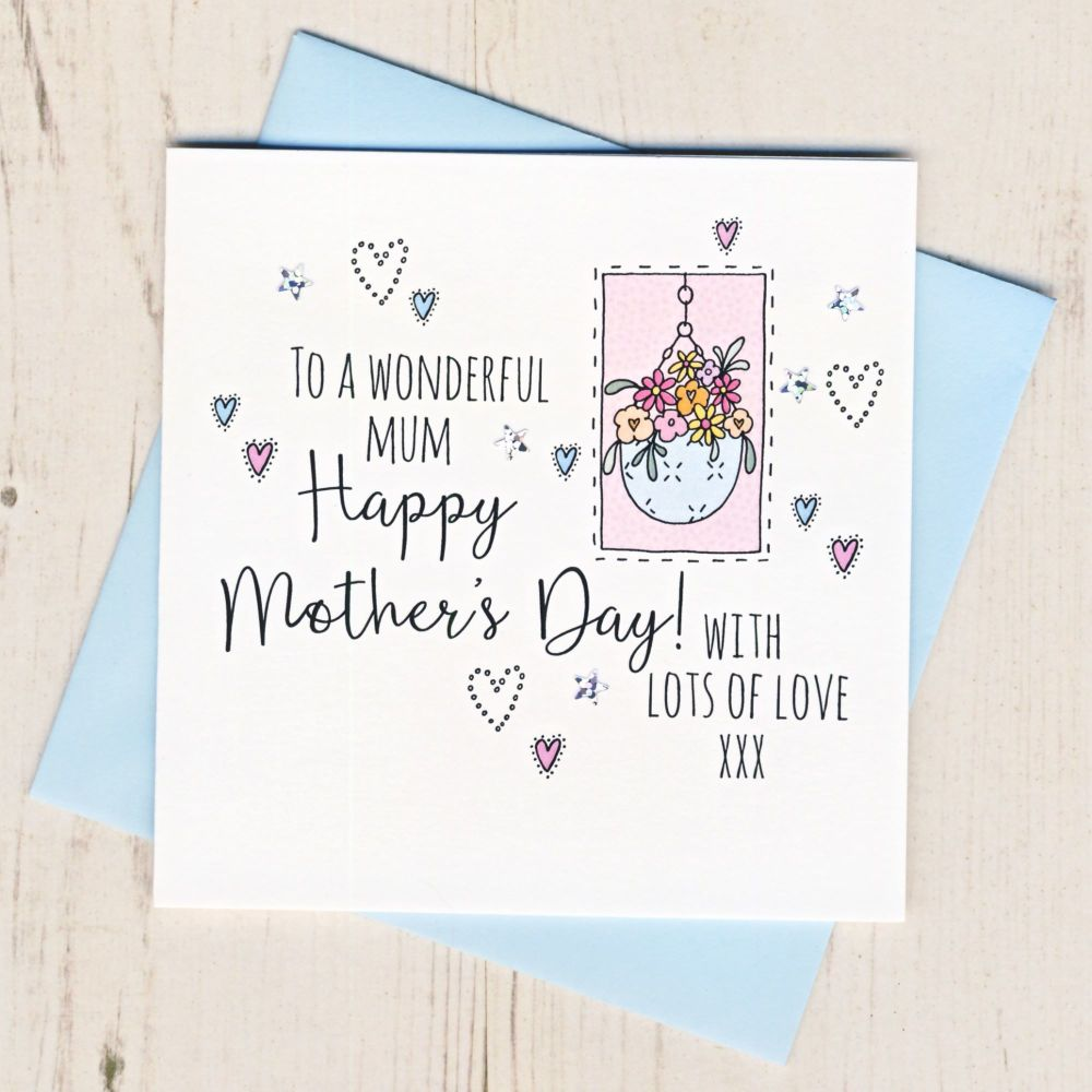 <!-- 001 -->Mother's Day Hanging Basket Card