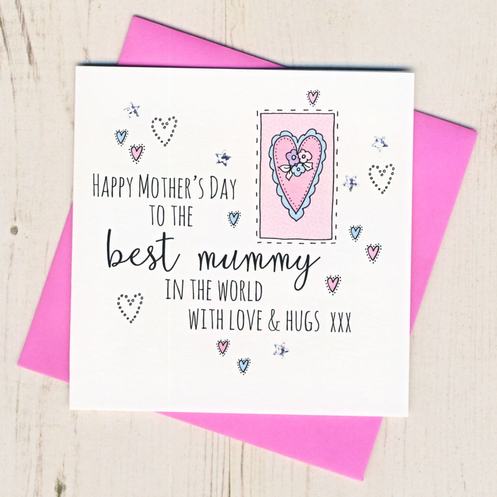 <!-- 001 -->Mother's Day Mummy Heart Card