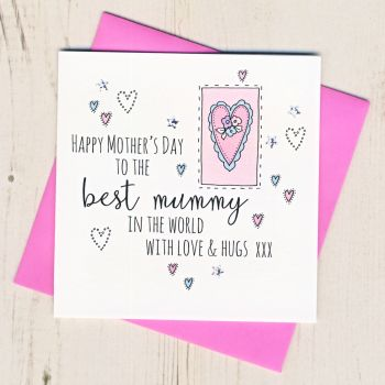 Mother's Day Mummy Heart Card