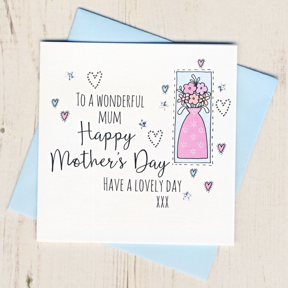 <!-- 001 -->Mother's Day Vase Card