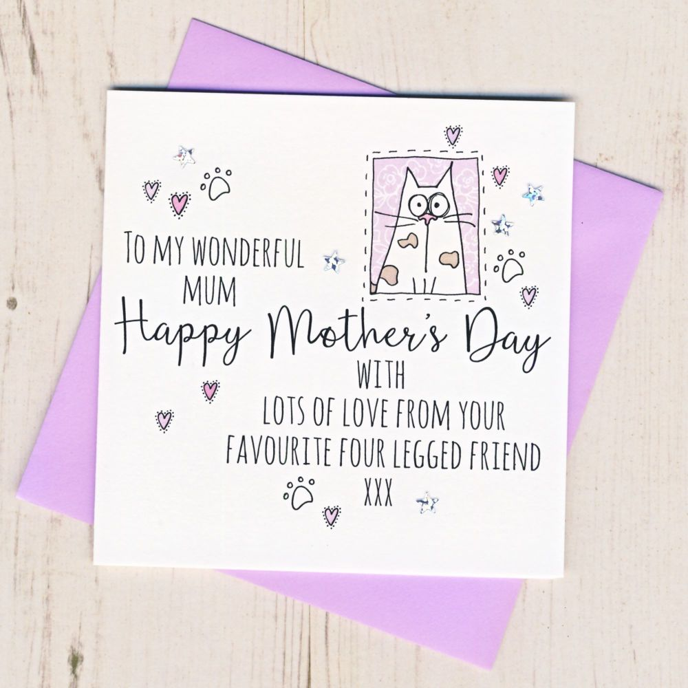 <!-- 002 -->Mother's Day Card From The Cat