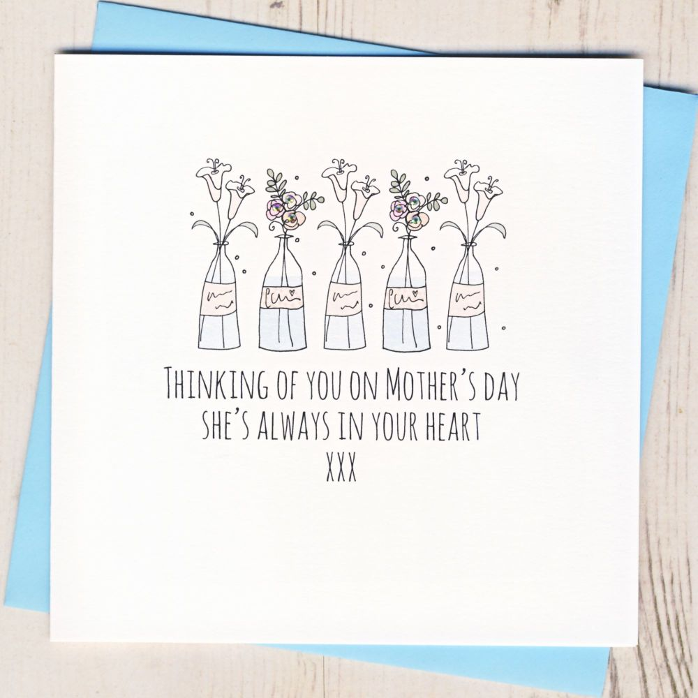<!-- 005 -->Thinking Of You On Mother's Day Card