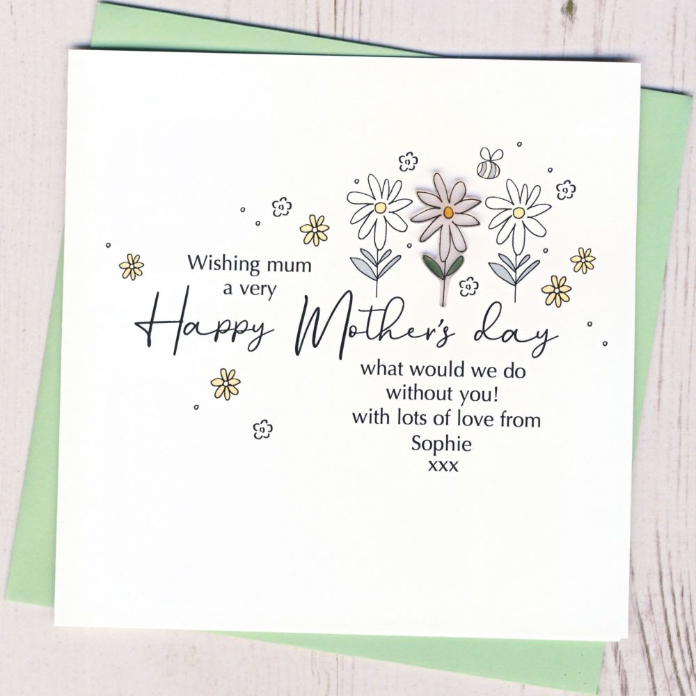 <!-- 001-->Personalised Daisy Mother's Day Card