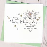 <!-- 002-->Personalised Daisy Mother's Day Card