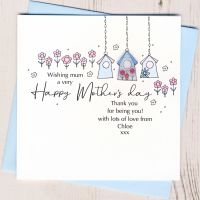 <!-- 002-->Personalised Mother's Day Birdhouse Card