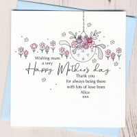 <!-- 002-->Personalised Mother's Day Hanging Basket Card