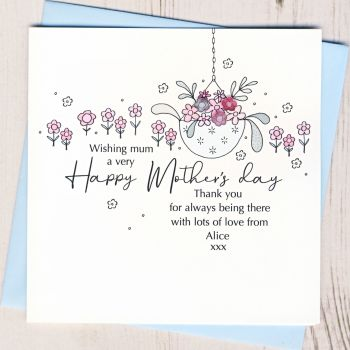 Personalised Mother's Day Hanging Basket Card