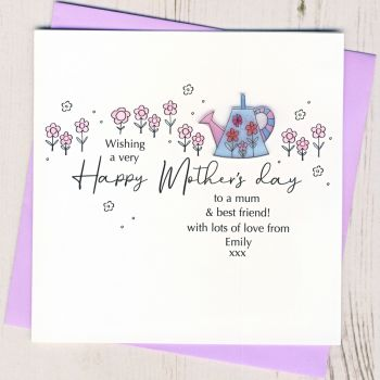 Personalised Mother's Day Watering Can Card