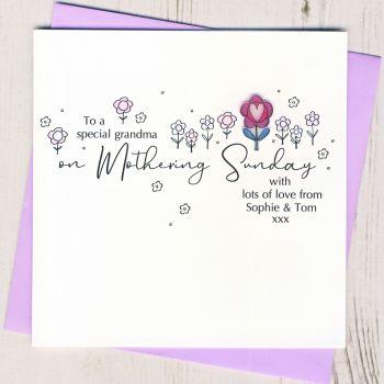Personalised Grandma Mothering Sunday Card
