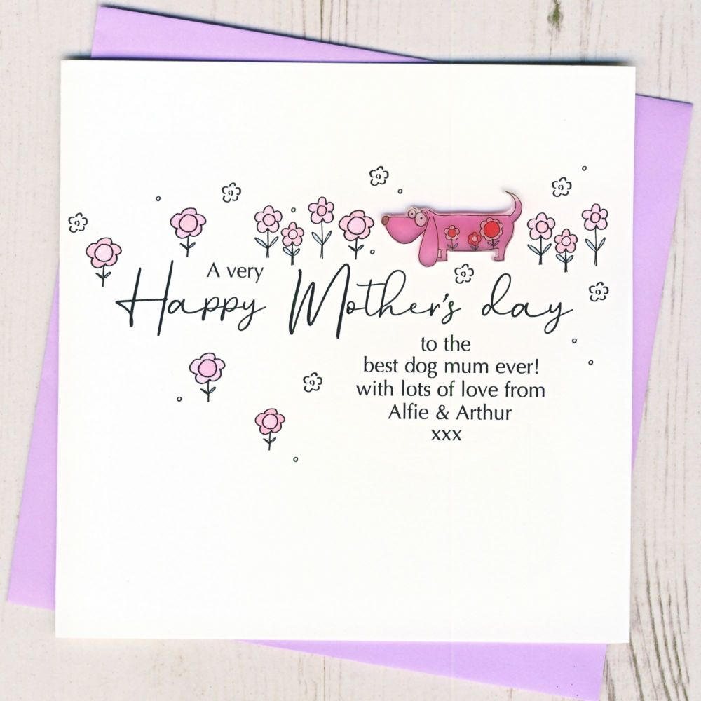 <!-- 001-->Personalised Mother's Day From The Dog Card