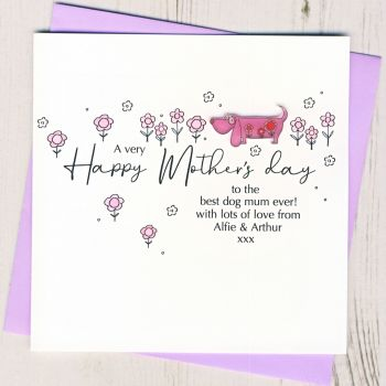 Personalised Mother's Day From The Dog Card