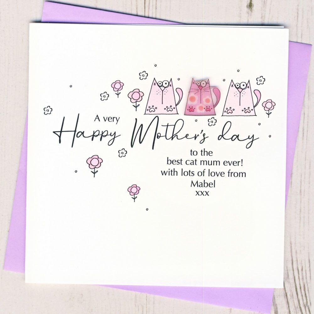 <!-- 001-->Personalised Mother's Day From The Cat Card