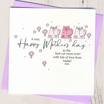 Personalised Mother's Day From The Cat Card
