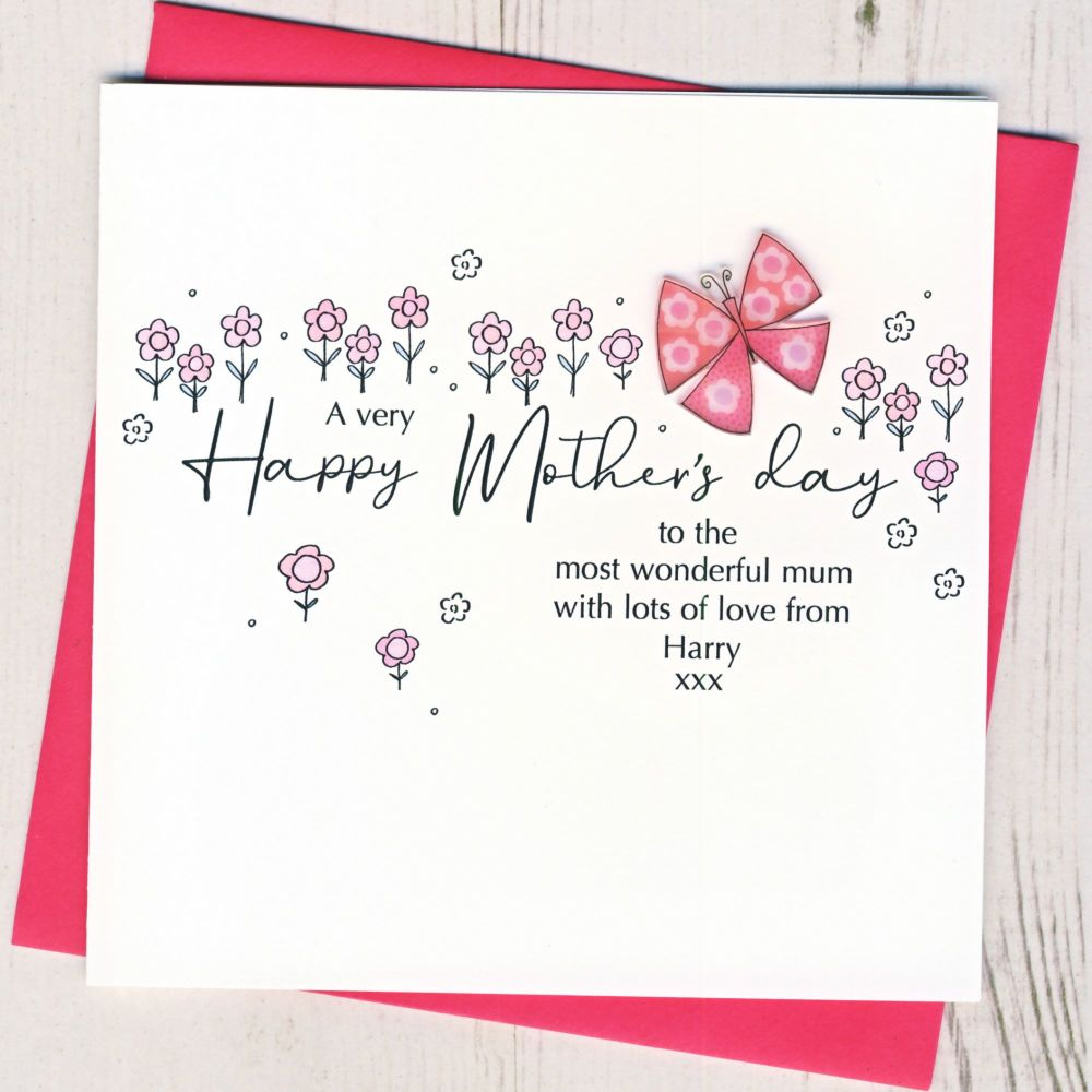 <!-- 001-->Personalised Mother's Day Butterfly Card