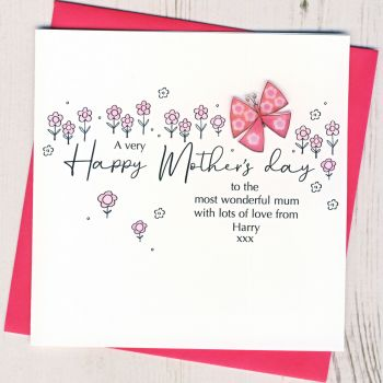 Personalised Mother's Day Butterfly Card