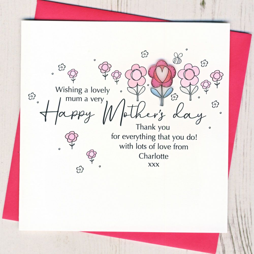 <!-- 001-->Personalised Mother's Day Flower Card
