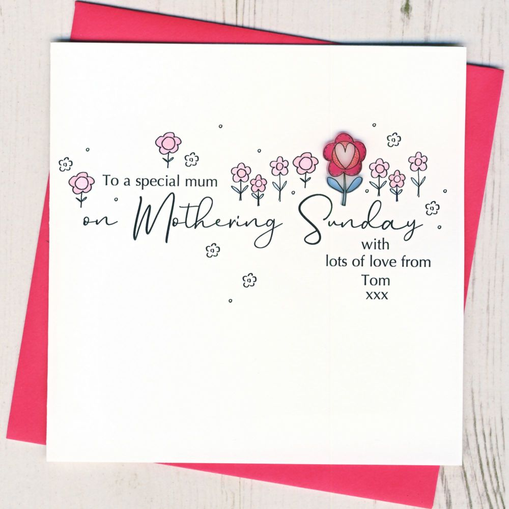 <!-- 001-->Personalised Mothering Sunday Card