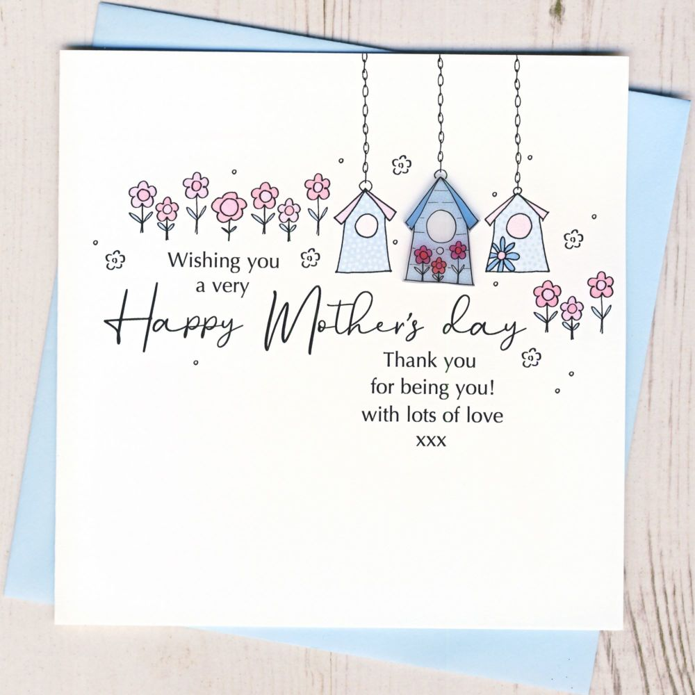 <!-- 001-->Mother's Day Birdhouse Card