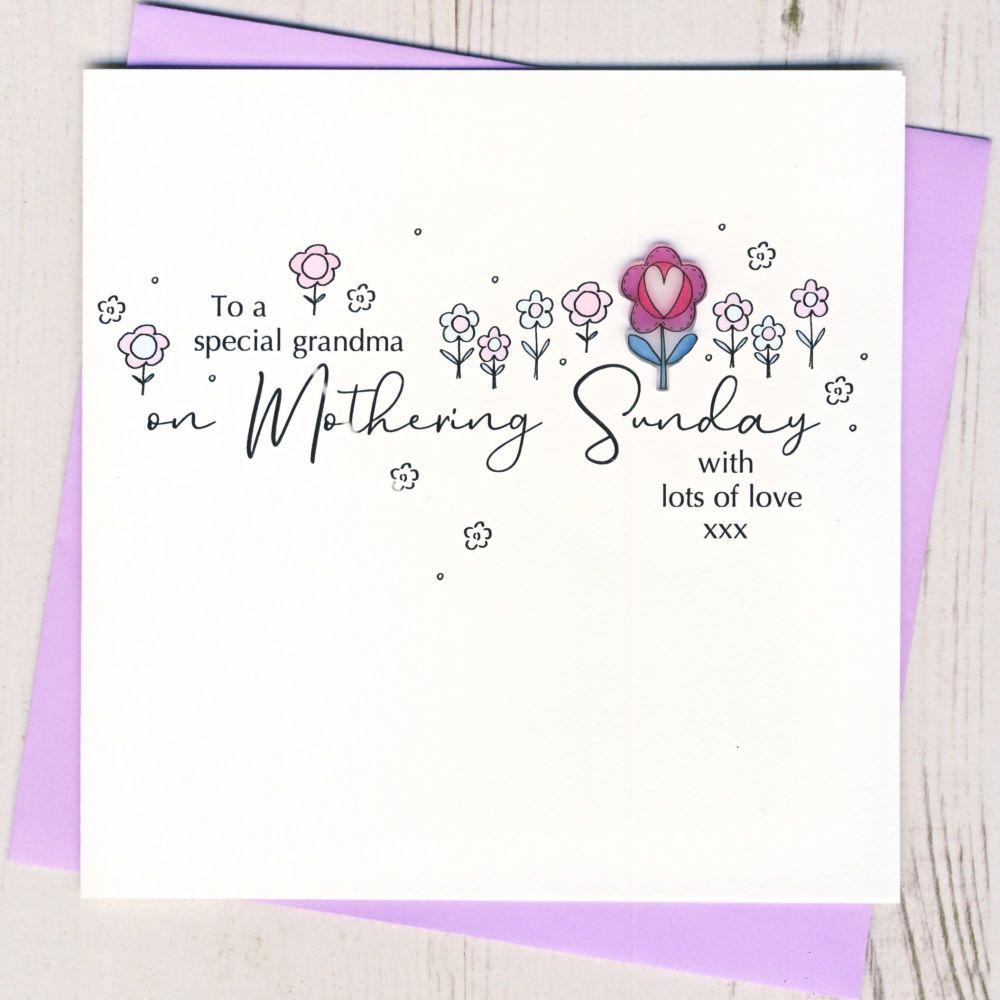 <!-- 002-->Grandma Mothering Sunday Card