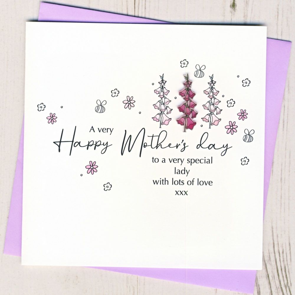 <!-- 001-->Mother's Day Foxglove Card