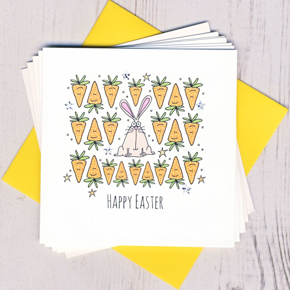 <!-- 001 -->Pack of Five Easter Bunny Cards