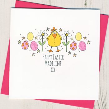 Personalised Easter Chick Card