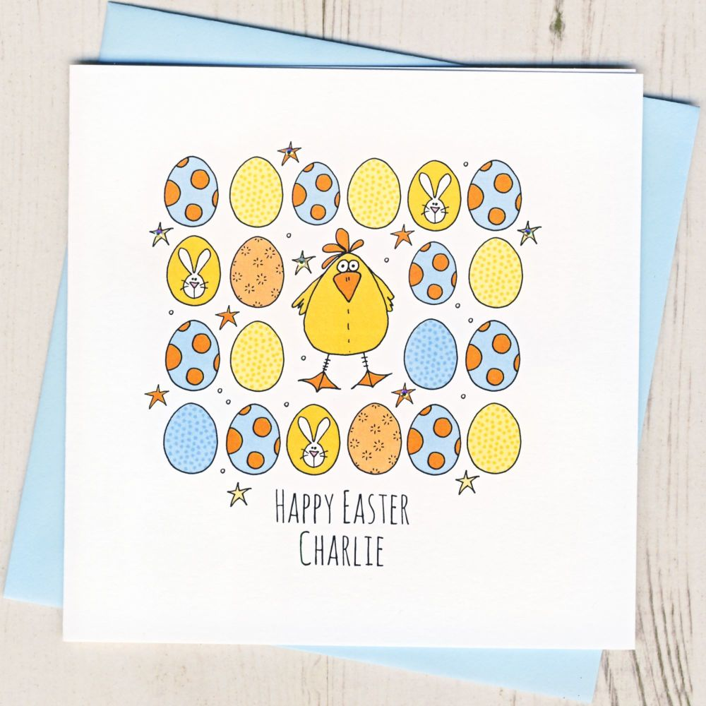 <!-- 003 -->Personalised Easter Chick Card