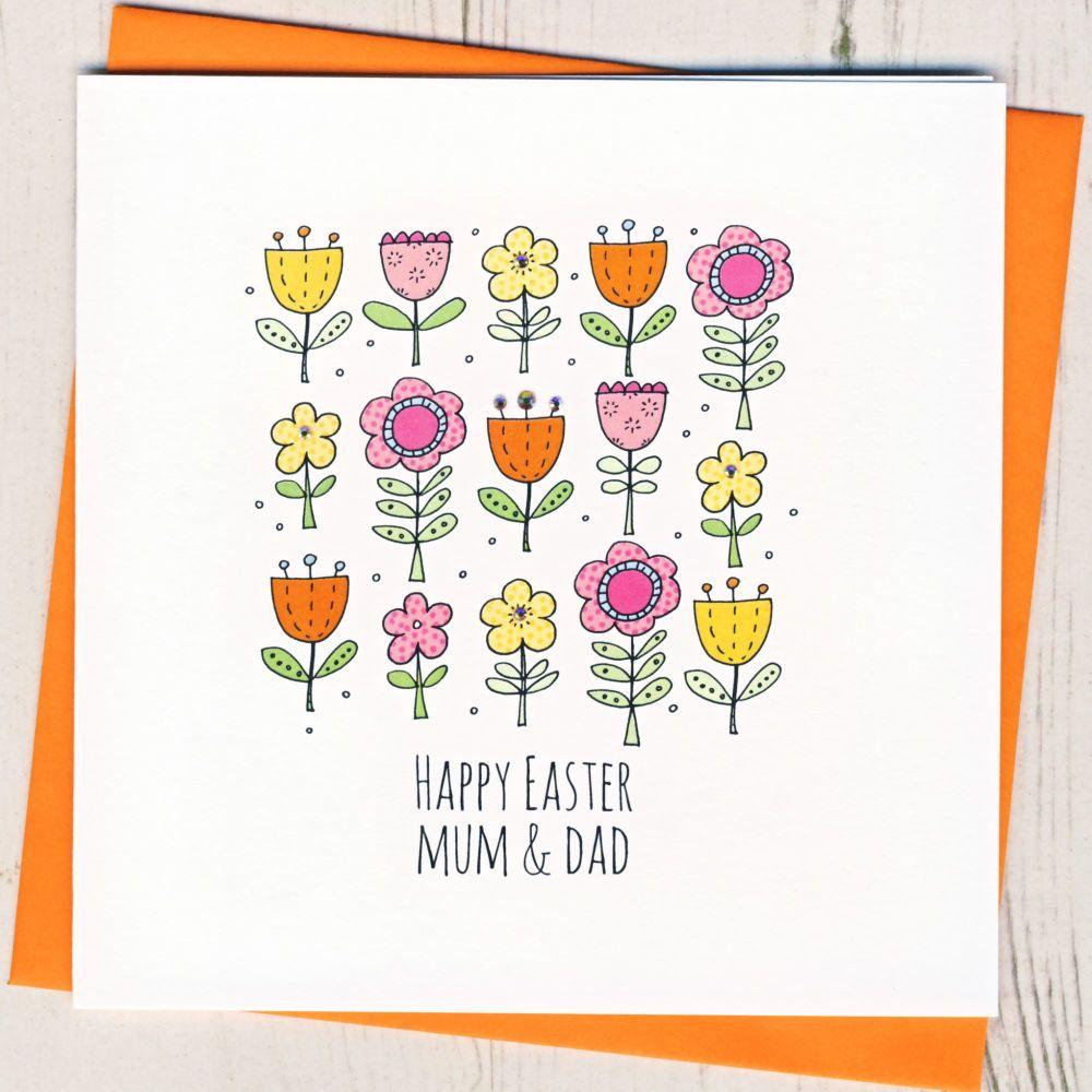 <!-- 005 -->Personalised Easter Flowers Card