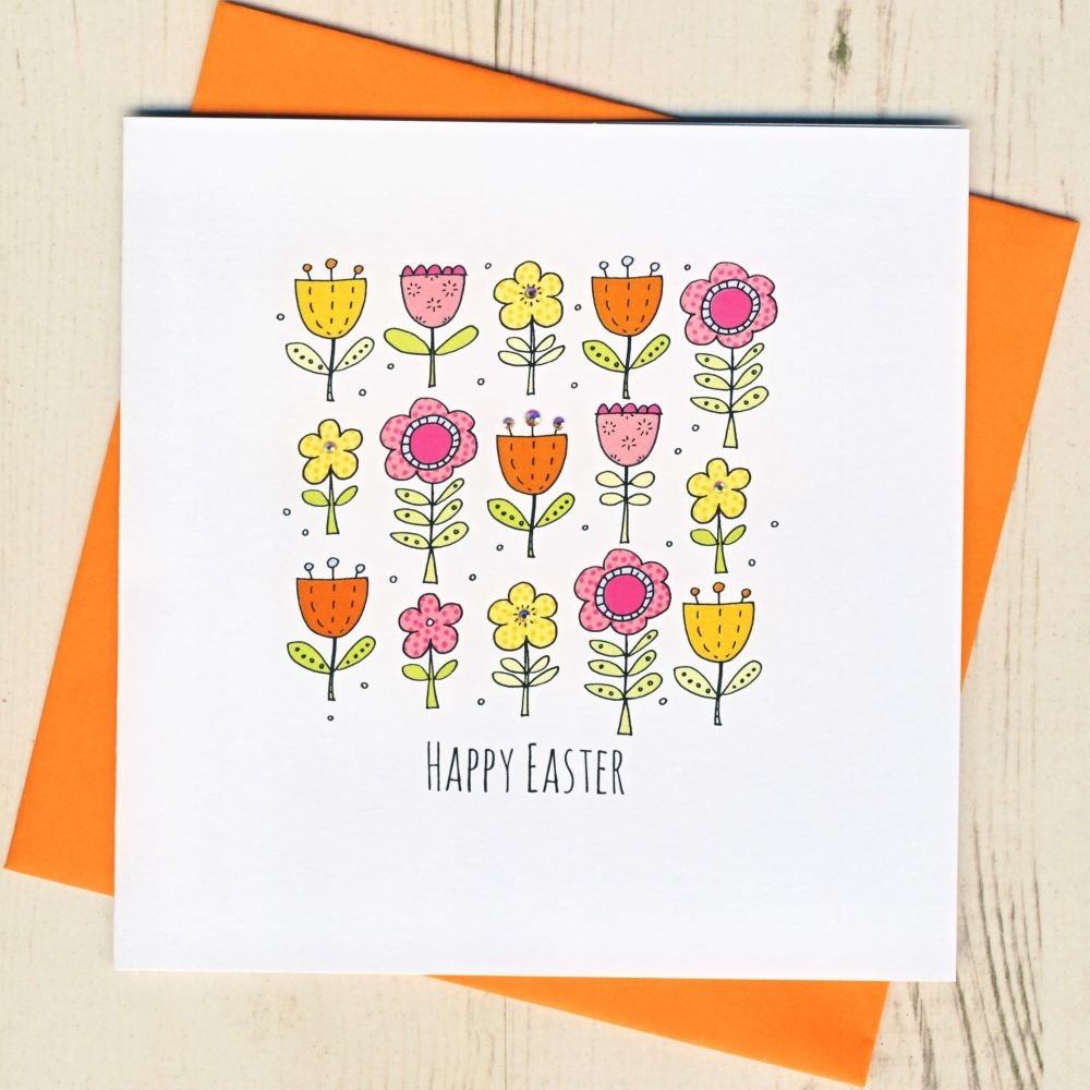 <!-- 005 -->Easter Flowers Card