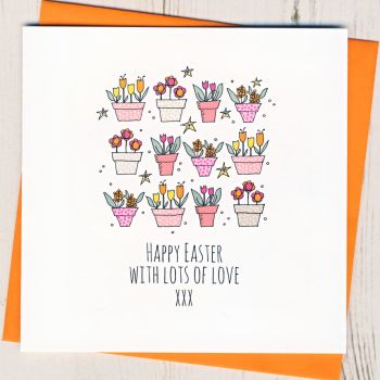 Personalised Easter Plant Pots Card
