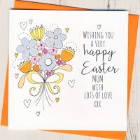 Personalised Glittery Easter Card