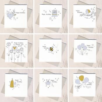 Ten Glittery Birthday Cards